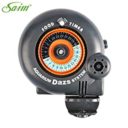 Saim Battery-Operated Automatic Fish Food Tank Feeder Timer