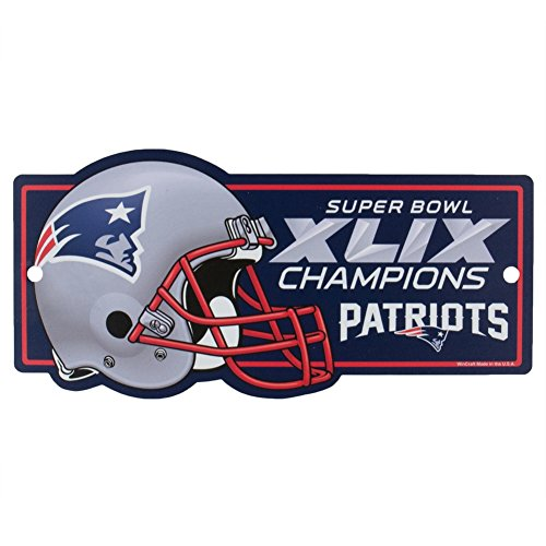 WinCraft New England Patriots Official NFL 11 inch x 17 inch Super Bowl 49 Champions Reserved Parking Sign by 006011 ()
