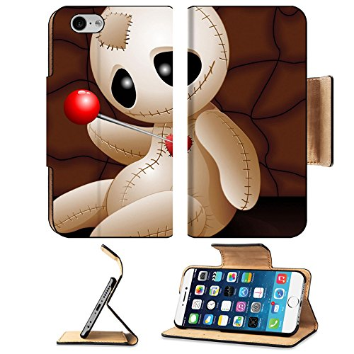 Liili Premium Apple iPhone 6 iPhone 6S Flip Pu Leather Wallet Case ID: 23107052 Voodoo Doll Cartoon in Love x (Halloween Love Superstitions)