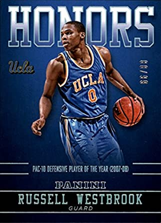 newest a9751 39a4a Amazon.com: 2015 Panini UCLA Honors Silver #RW Russell ...
