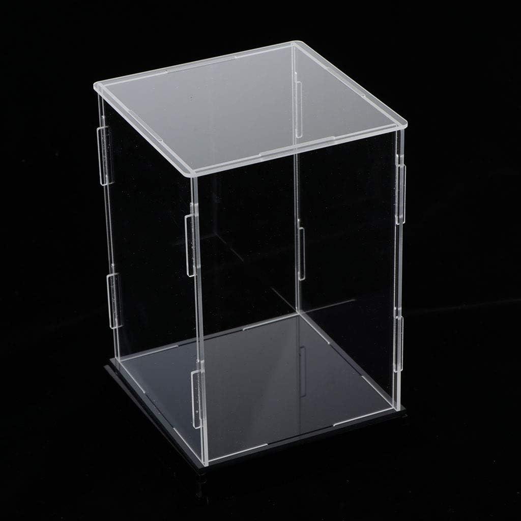 Box Showcase Staubdicht F/ür Miniatur Aciton Figuren SM SunniMix Vitrine 10x10x20cm