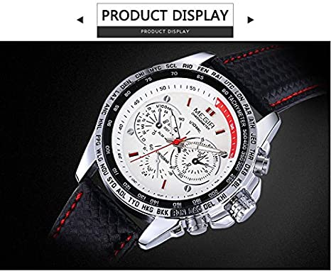 Amazon.com : Watch Men Watches Relogios Masculinos Fashion Mens Quartz Watch Top Brand Luxury Clock Men Wristwatch Relojes Hombre 2016 White color ...