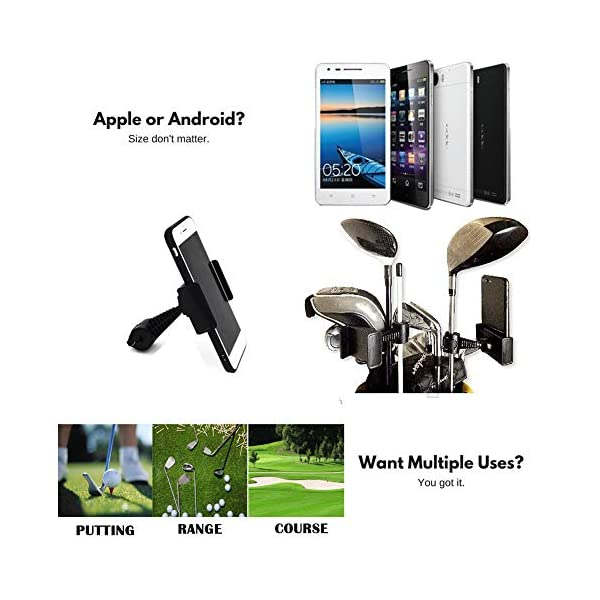 XLHVTERLI-Golf-Phone-Holder-Golf-Swing-RecordAnalyseUniversal-Smartphone-Holder-for-the-Golf-TrolleyGolf-BuggyGolf-CartGPS-HolderSuitable-for-all-SmartphonesGolf-gifts-for-men