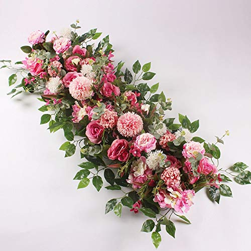 (CoronationSun - Arch for Wedding - 50/100cm Wedding Flower Arrangement Supplies Silk Peony Artificial Flower Row Decor)