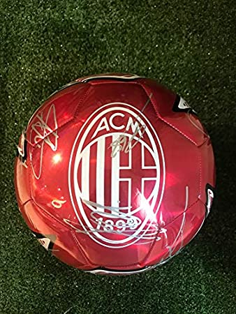 Maestri del Fútbol Balón Puma Rojo Autógrafo A.C. Milan 2019/2020 ...