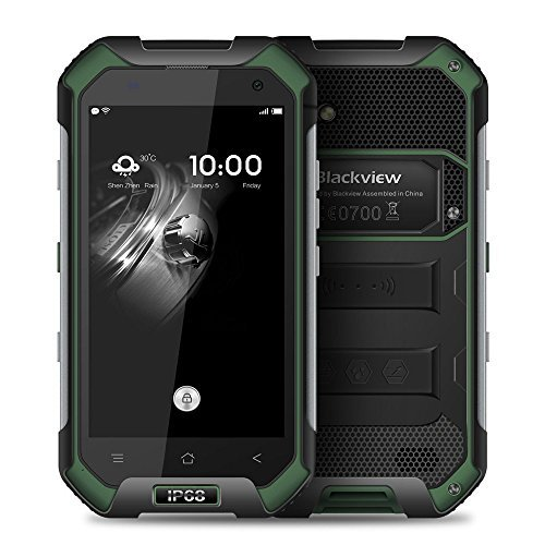 Blackview BV6000 Waterproof Smartphone IP68 Gorilla Glass 3 Shockproof Dustproof Android 6.0 3GB RAM 32GB ROM 4.7 Inches Outdoor Mobile Cell Phone  Green by Blackview