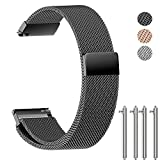 NotoCity Milanese Strong Megnatic Band Quick Release Stainless Steel Watch Band for Samsung Gear S2 Watch for Samsung Gear Sport Watch, for Pebble Watch, Replacement Strap for Mens Women- 20mm Silver