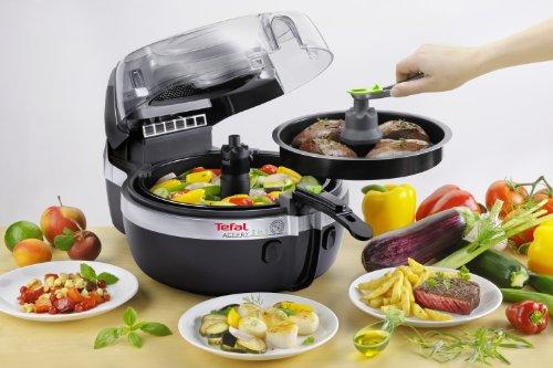 -[ Tefal YV960140 ActiFry 2-in-1 Health Fryer, 1.5 kg Capacity, 2 Cooking Zones, Black  ]-