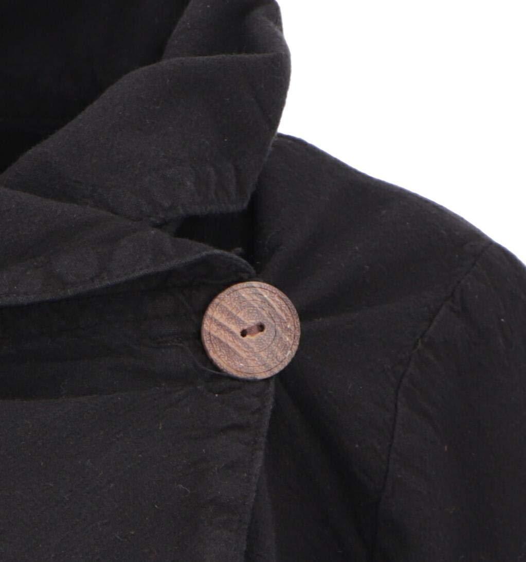 Guru-Shop Boho Bolero blus, blusskjorta, omlotta, kvinnor, bomull, blusar & tunikas alternativ klädsel svart
