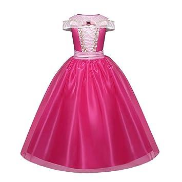 Disfraz de princesa para niña, vestido Aurora para niños de 3 a 10 ...