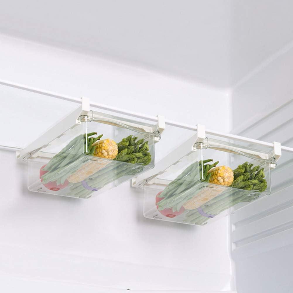 Plastik K/üche Storage Rack 3er-Pack K/ühlschrank Hanging Drawer Storage Box Obst Speisen Lagerung K/ühlschrank Eier Container K/ühlschrank Bracket-Aufbewahrungsbeh/älter Haushalts-Speicher-Kasten