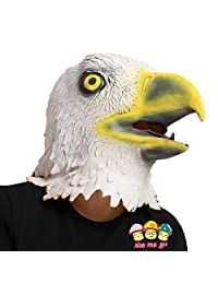 XIAO MO GU Eagle Mask Halloween Costume Party Latex Animal Head Mask