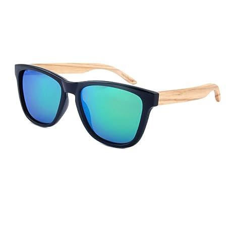 HAOYUXIANG Neue Europäische Und Amerikanische Männer Und Frauen Polarisierte Sonnenbrille 5 Farbe Holz,C7