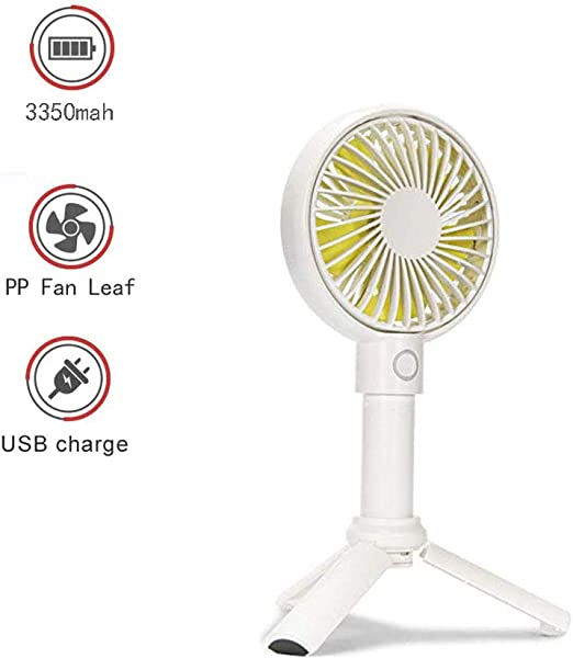 WSN Mini Ventilador de Mano, pequeño USB Ventilador Personal ...