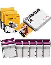 KODAK Mini 3 Retro Portable Photo Printer, Compatible with iOS, Android & Bluetooth Device, Real Photo: (3x3), 4Pass Technology & Laminating Process, Print Photos White - 60 Sheets