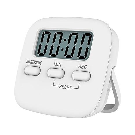 KunmniZ - Temporizador de cocina digital con pantalla LCD, anilla fuerte de 60 minutos de