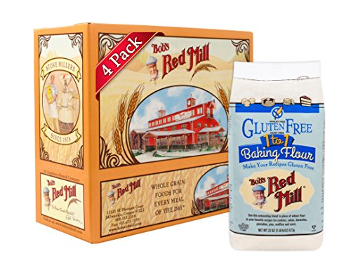 Bob's Red Mill Gluten Free 1-to-1 Baking Flour, 22 Ounce (Pack of 4) (Substitute All Purpose Flour For Coconut Flour)