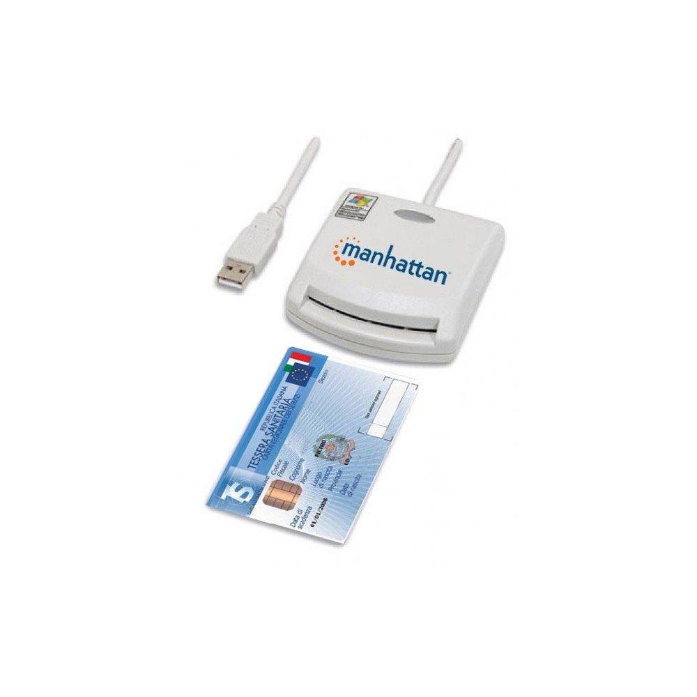 Manhattan Lettore di Smart card USB esterno I-CARD CAM-USB 172844