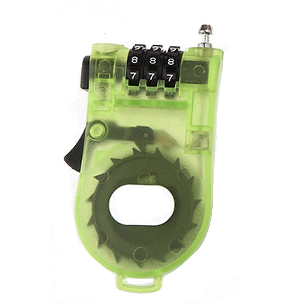 Tuu Combination Lock,Transparent Plastic 4 Digit Combination Padlock for Luggage Backpack Jewelry Boxes Tool Boxes (Green)