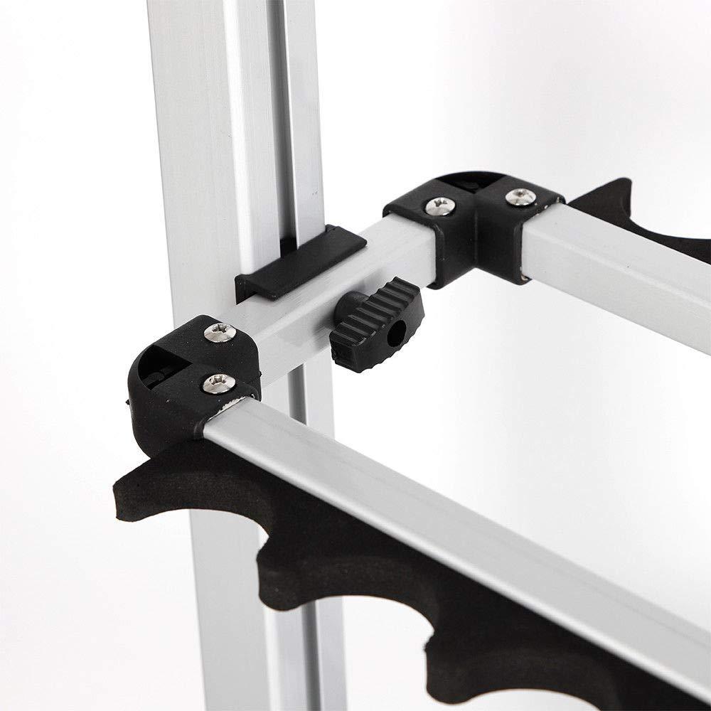 OUBAYLEW Rutenst/änder Angelruten Rutenhalter Halterung f/ür 24 Ruten Aluminium Rutenst/äender DE