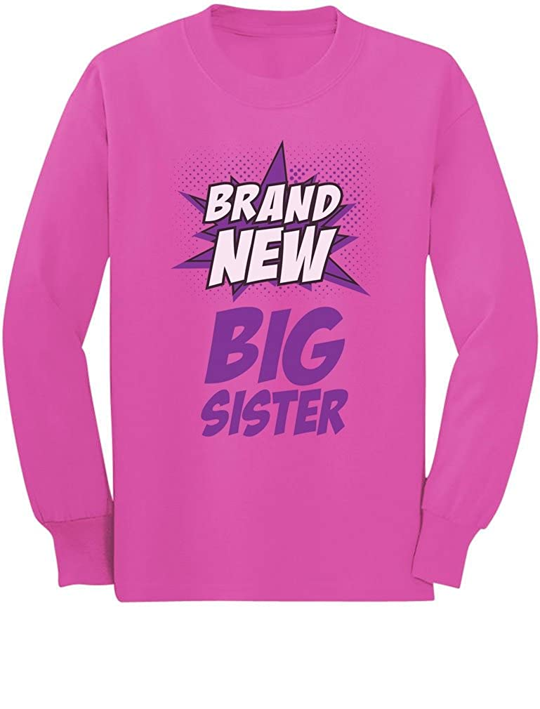 Big Sister-Superhero Gift Big Sister Toddler//Kids Long Sleeve T-Shirt 4T Pink
