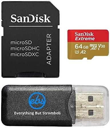 64GB Memory Card works with Gopro Hero 6, Fusion, Hero 5, Karma Drone, Hero 4, Session, Hero 3, 3+, Hero + Black - Sandisk Extreme UHS-1 64G micro ...