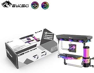 Bykski DIY Copper Intel/AMD CPU 5700XT/5700/2080Ti/2080 GPU Block Split Set Hard Tube Advanced Provanced Kit for PC Water Cooling System (AMD CPU&RX 5700XT/RX 5700 GPU 360 Water Cooling Kit)