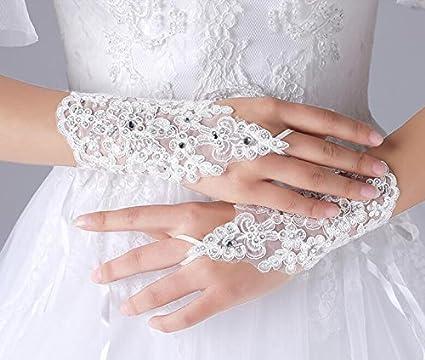 uk availability bc05c caff5 AJUNR-Matrimoni Feste Accessori Prom Guanti Sposa Nozze ...