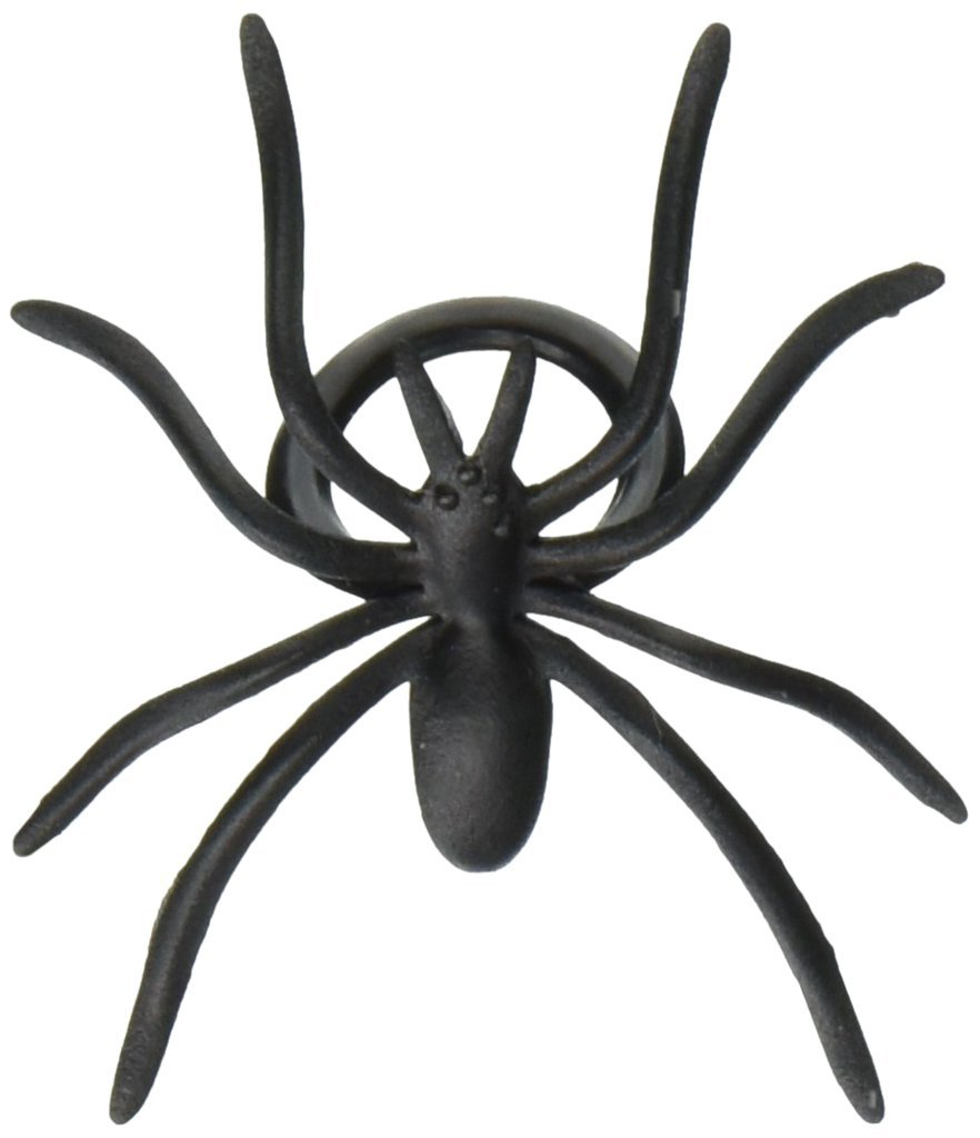Oasis Supply 501780-144 144-Piece Black Spider Ring Cupcake Topper, 144, by Oasis Supply
