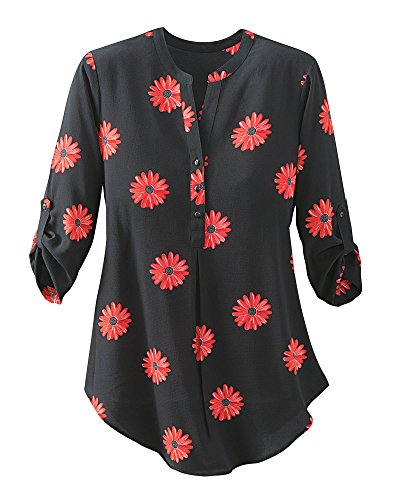 Antilia Femme Field Of Daisies Tunic  Black  Large