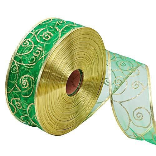 Cummerbund Lilac (dezirZJjx Christmas Ribbons,200x5cm Glitter Ribbon Wrapping Bow Packaging Belt Xmas Decor - Green)