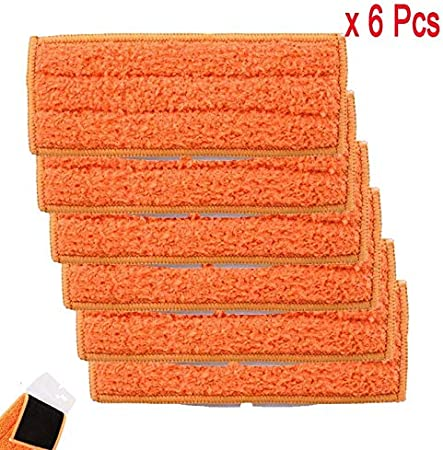 ZINNI Star-Vacuum Cleaner Parts - 6 Pack Washable Damp Sweeping Pads for iRobot Braava Jet 240 241 cleaner spare parts