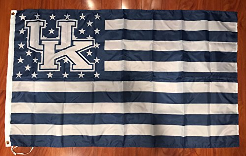 University of Kentucky Stars and Stripes Banner Flag 3 ft by X 5 ft Man Cave