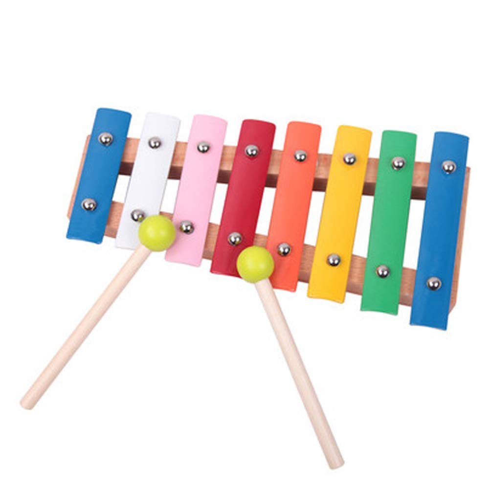 Nwn Children's educational xylophone eight-tone hand knocking piano infant baby music toys njsdih