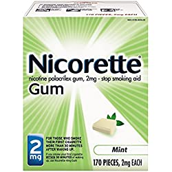 Nicorette Nicotine Gum Mint 2 milligram Stop Smoking Aid 170 count