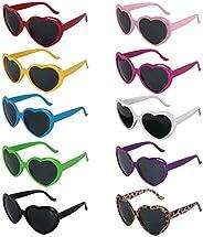 kilofly 10 Heart Shaped Sunglasses Women Fun Cute?Bachelorette Party Favors
