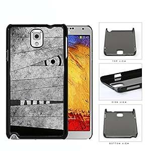 Mummy Peeking Through Bandage Grunge Hard Plastic Snap On Cell Phone Case Samsung Galaxy Note 3 III N9000 N9002 N9005