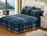 Nattey British Style Bedding Fitted Sheet (Bed Skirt)/Valance (California King)