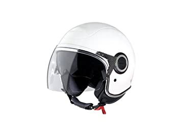 Jet Casco Vespa VJ, color blanco