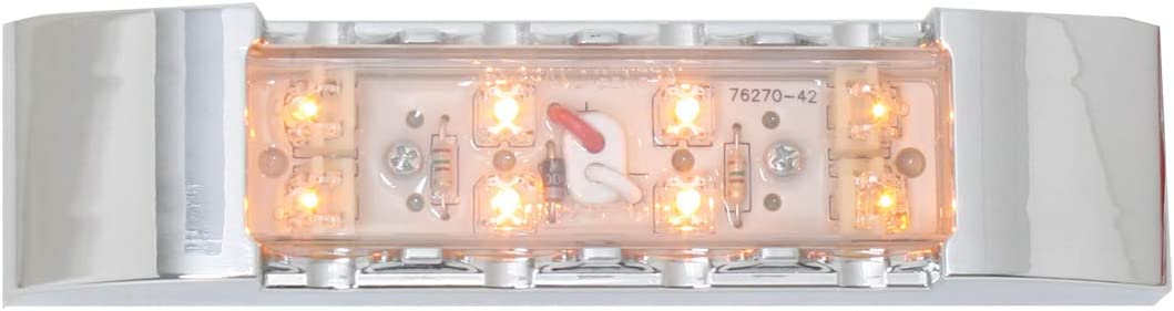 GG Grand General 76171 LED Light 6 Rectangle Spyder Amber Clear Plastic Bezel