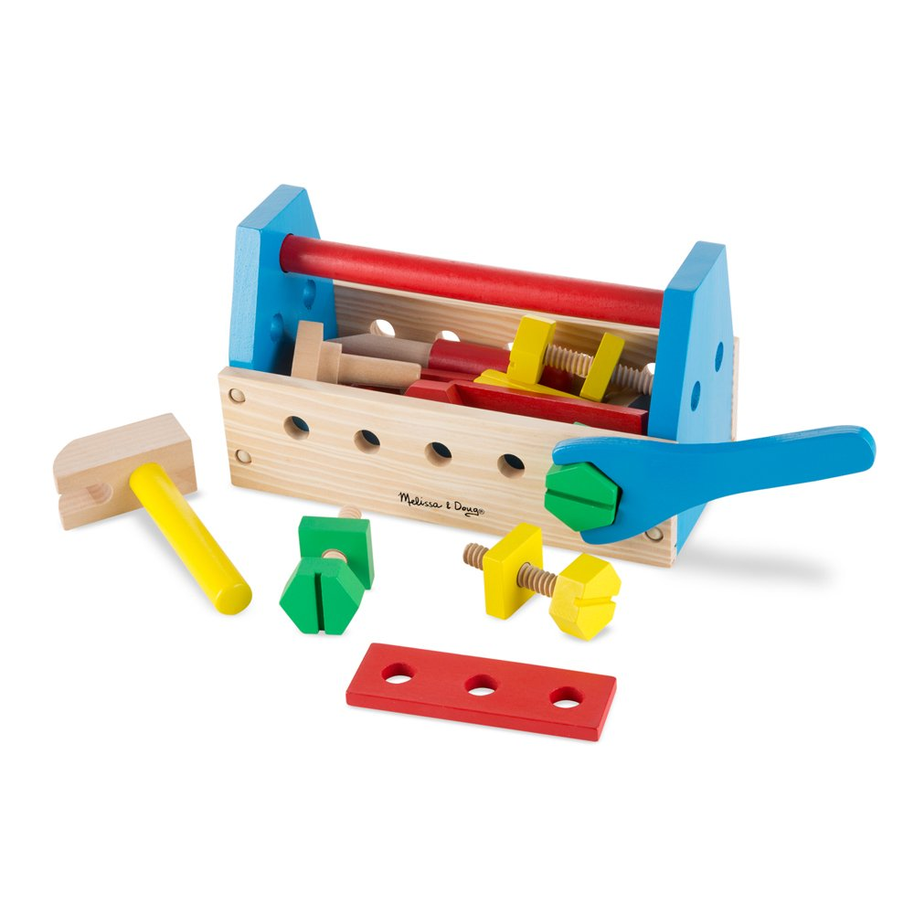 Melissa & Doug Take-Along Tool Kit Wooden Construction Toy (24 pcs) 494