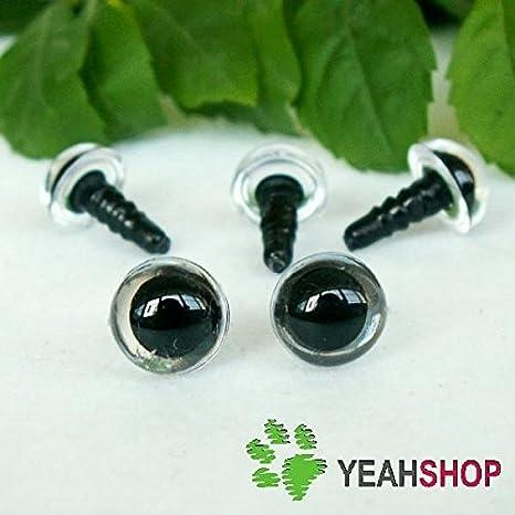 Amazon.com: 264 Pcs 6~12mm Black Plastic Safety Eyes 10/12mm ... | 466x466