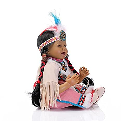 Amazon.com: 22 inch Rare nativo americano indio negro Reborn ...