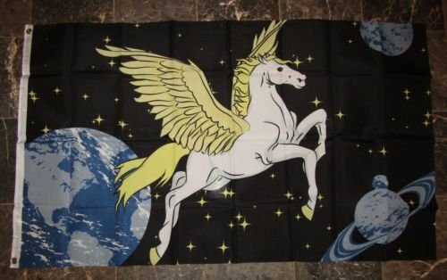 Moon 3x5 Pegasus Unicorn Space Majestic Polyester Flag 3x5 B