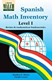 Spanish Math Inventory, Stephen S. Winter and Joseph Caruso, 0825121671