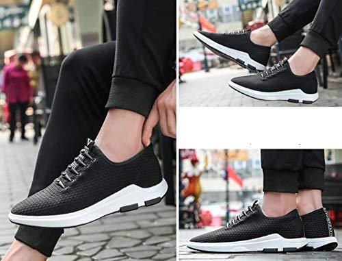 Koyi Männer Schuhe Neue Wilden Sportschuhe Dicken Boden Wilden Neue Casual Laufschuhe Jugend Koreanischen Mesh Schuhe Atmungsaktiv Leicht Abriebfest schwarz 1 7690a8