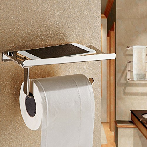 Wall Mounted Bathroom Toilet Paper Holder Rack Tissue Roll Stand Stainless New