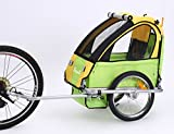 Sepnine baby bicycle trailer for one child BT-505 (yellow/green)