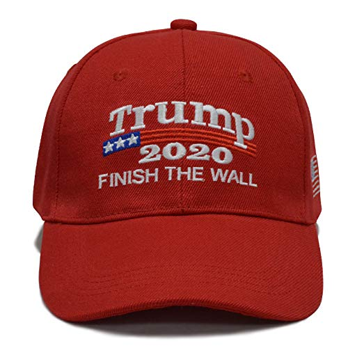 Besti Donald Trump 2020 Keep America Great Cap Adjustable Baseball Hat with USA Flag - Breathable Eyelets (Red 006)