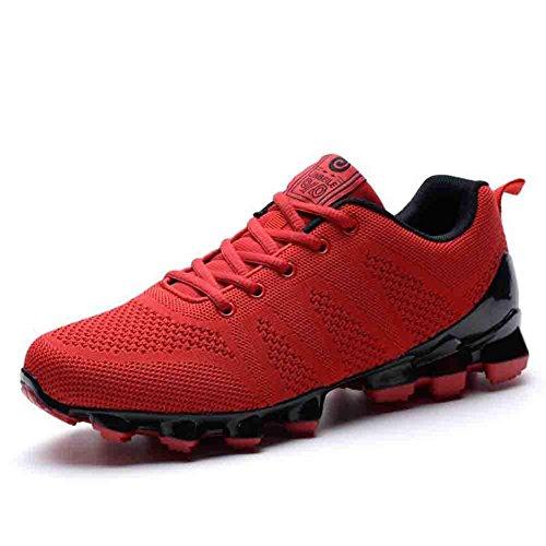 Botas De Fútbol Para Hombre Botas De Fútbol Invierno Otoño Invierno Zapatillas De Deporte Transpirable Para Entrenamiento, Rojo, 39